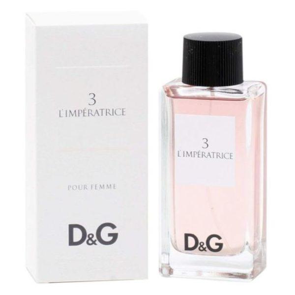 Dolce & Gabbana No 3 Eau De Toilette For Women 100ml