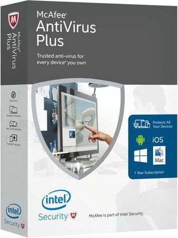 McAfee Antivirus Plus 2016 Software 1User