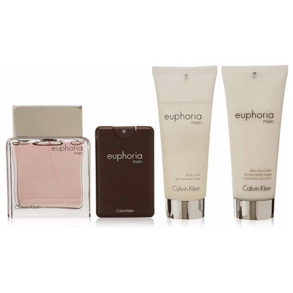 Calvin Klein Euphoria Gift Set For Men (Calvin Klein Euphoria 100ml EDT + 100ml Shower Gel + 100ml After Shave Balm + Euphoria 20ml EDT)