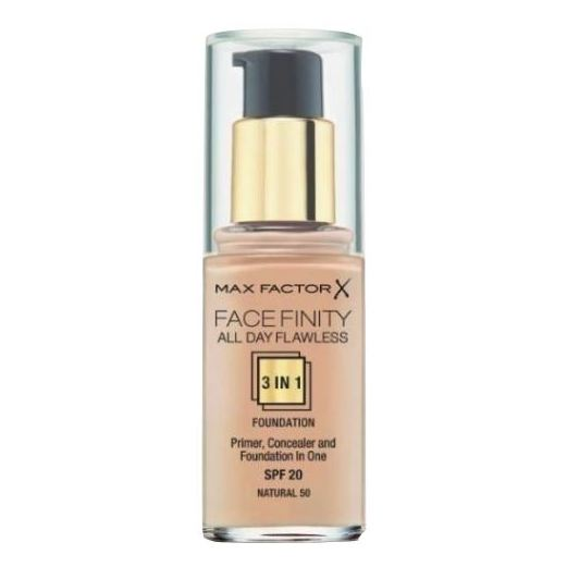 Max Factor Facefinity All Day Flawless Liquid Foundation 3in1 050 Natural 30ml