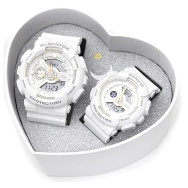 Casio LOV-17A-7ADR G-Shock & Baby G Lovers Collection Pair Watch