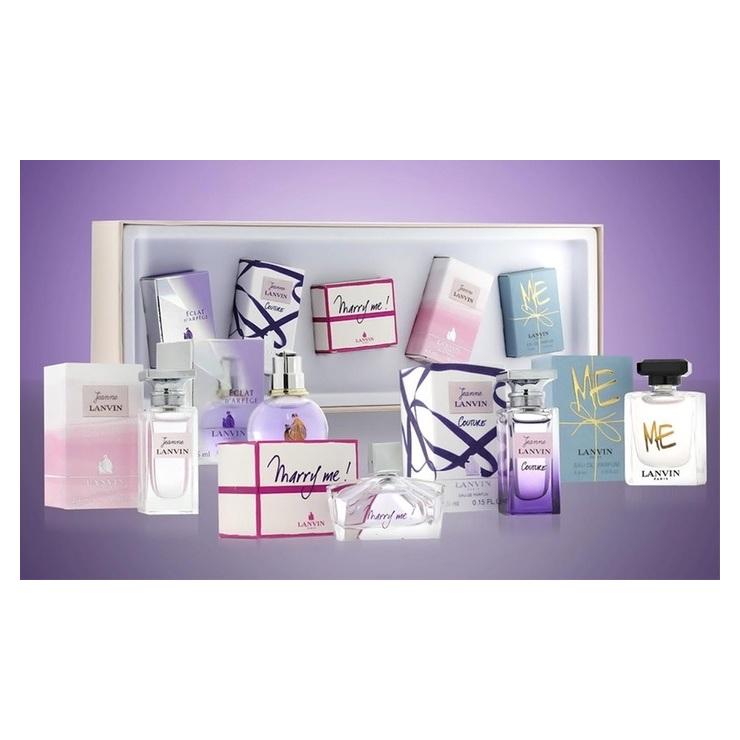 Lanvin Mini Gift Set For Women (Eclat d'Arpege 5ml EDP+ Jeanne Lanvin Couture 4.5ml EDP + Marry Me 4.5ml EDP + Jeanne Lanvin 4.5ml EDP + Me 4.5ml EDP)