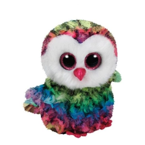 TY Beanie Boos Owl Owen Multi Color 37143