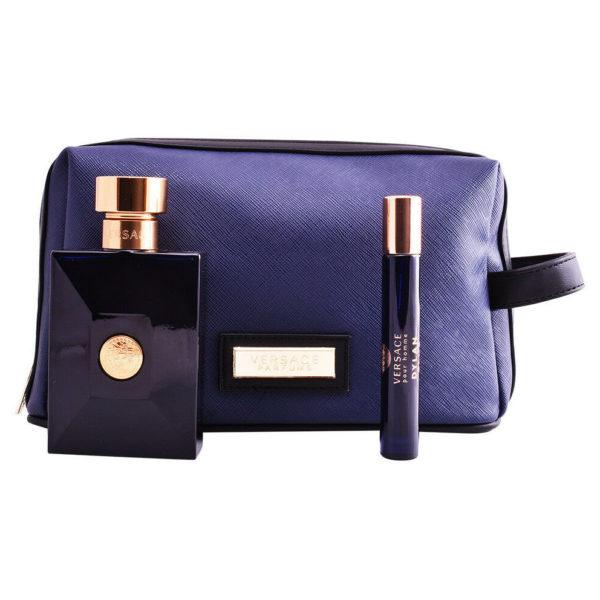 Versace Pour Homme Dylan Blue Gift Set For Men (Pour Homme Dylan Blue 100ml EDT + Pour Homme Dylan Blue 10ml EDT + Bag)