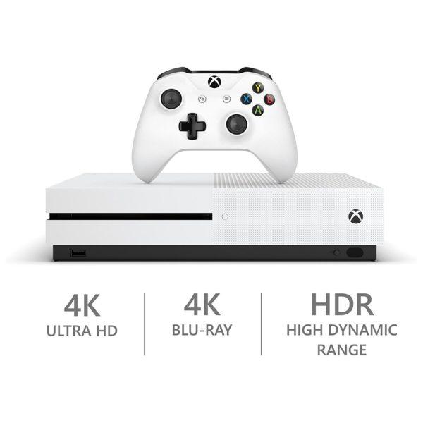 Microsoft Xbox One S Gaming Console 1TB White + Anthem Legion of Dawn Edition DLC Game