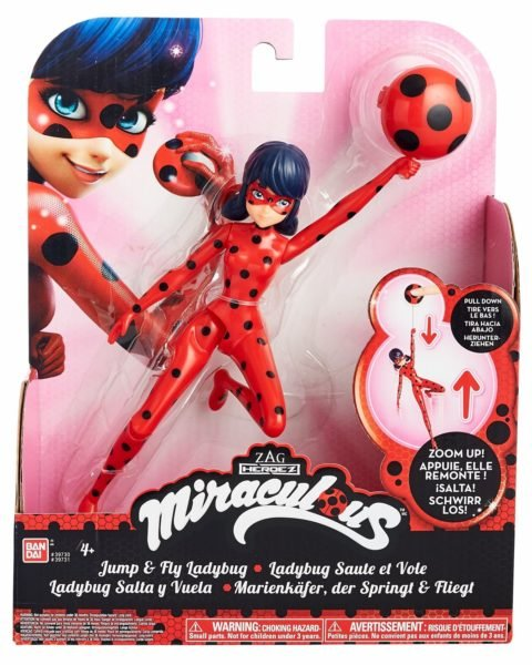 Miraculous 7.5-Inch Flying Ladybug Feature Action Doll Toy