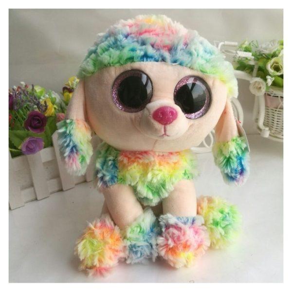 TY 37145 Beanie Boos Dog Rainbow Multi Color