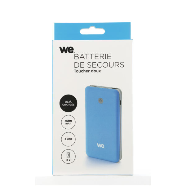 We Power Bank 7500mAh - Blue/Grey