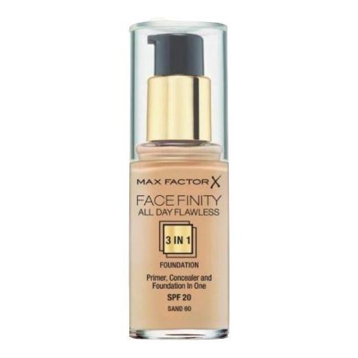 Max Factor Facefinity All Day Flawless Liquid Foundation 3in1 060 Sand 30ml