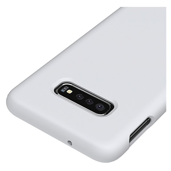 Samsung Silicon Cover White For Galaxy S10 Plus