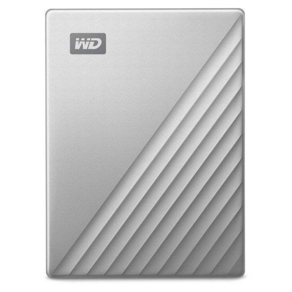 WD My Passport Ultra USB 3.0 Type-C External Hard Drive Silver WDBC3C0010BSLWESN