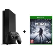 Microsoft Xbox One X Gaming Console 1TB Black + Metro Exodus DLC Game