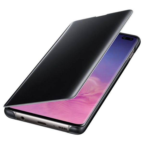 Samsung Clear View Flip Case Black For Galaxy S10 Plus
