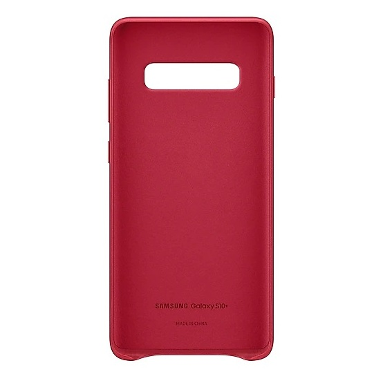 Samsung Leather Case Red For Galaxy S10 Plus