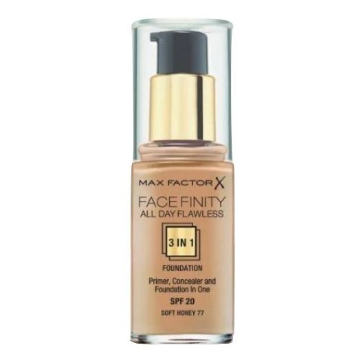 Max Factor Facefinity All Day Flawless Liquid Foundation 3in1 077 Soft Honey 30ml