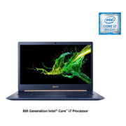 Acer Swift 5 SF514 Laptop - Core i7 1.8GHz 16GB 512GB Shared Win10Pro 14inch FHD Blue