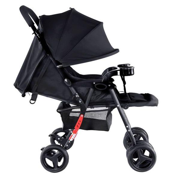 Baby Plus Stroller Cum Pram Black 0-36 M