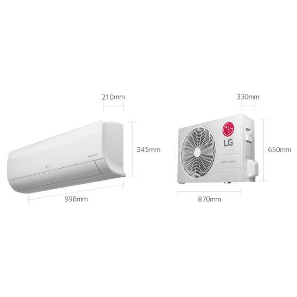 LG Split Air Conditioner DUALCOOL Inverter 2 Ton I27SCP
