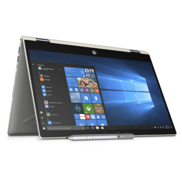 HP Pavilion x360 14-CD1006NE Convertible Touch Laptop - Core i5 1.6GHz 8GB 1TB+128GB Shared Win10 14inch FHD Gold