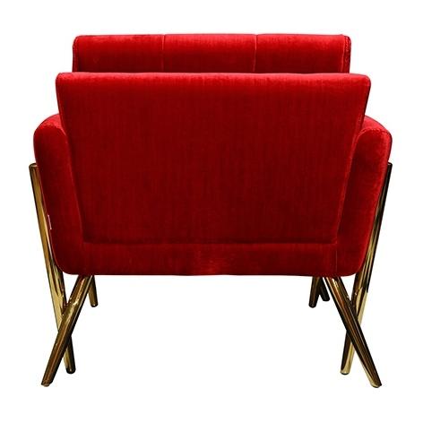 Pan Emirates Braxtan Single Seater Sofa Red