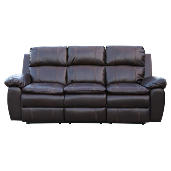 Buy Homestyle Burlington Recliner Sofa Set 3 2 1 Brown Price