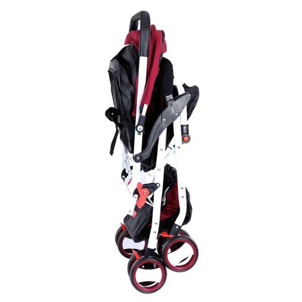 Baby Plus Stroller Cum Pram Wine Red 0-36 M