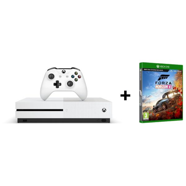 Microsoft Xbox One S Gaming Console 1TB White + Forza Horizon 4 DLC Game