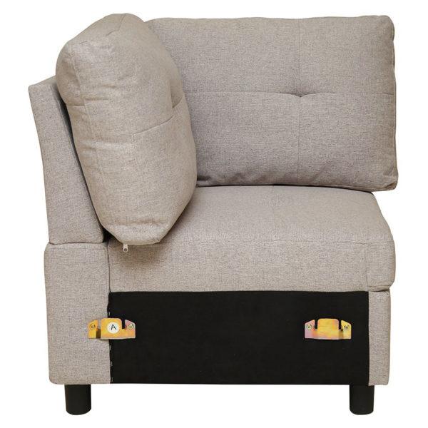 Pan Emirates Hatyard Corner Single Seater Sofa Charcoal