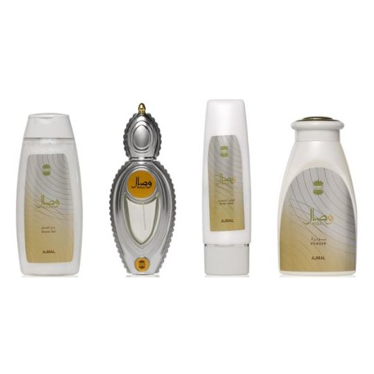 Ajmal Wisal Gift Set For Unisex (Wisal 200ml Shower Gel + Wisal 100ml Body Lotion + Wisal 200g Powder + Wisal Spray 50ml EDP)