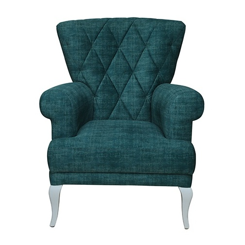 Pan Emirates Eyelet Single Seater Sofa Blue