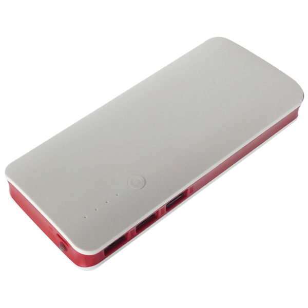 Eklasse EKPB0812BJE Power Bank 8000mAh White/Black+ White/Red Bundle