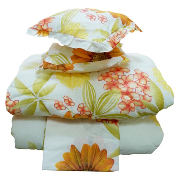 King Comforter 6pc set Yellow/144TC
