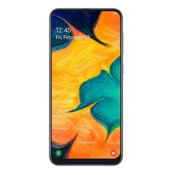 Samsung Galaxy A30 64GB White 4G Dual Sim Smartphone SM-A305F