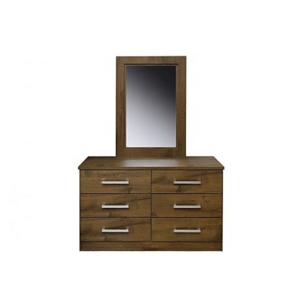 Pan Emirates Milano (N) Dressing Table With Mirror - Walnut