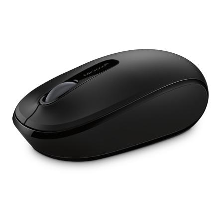 Microsoft Wireless Mobile Mouse Black 1850 U7Z-00004 + Portland Backpack