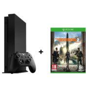 Microsoft Xbox One X Gaming Console 1TB Black + Tom Clancy's The Division 2 DLC Game