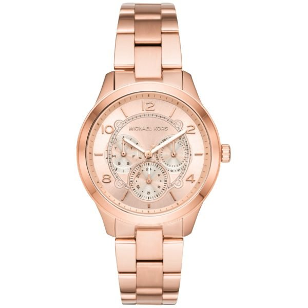 Michael Kors Runway Rose Dial Rose Gold-tone Ladies Watch