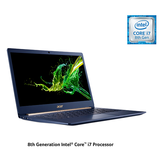 Acer Swift 5 SF514 Laptop - Core i7 1.8GHz 16GB 512GB Shared Win10Pro 14inch FHD Charcoal Blue