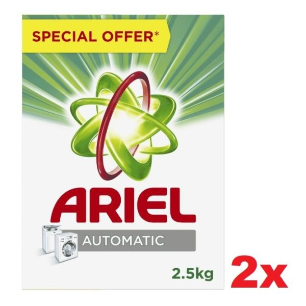 Ariel Automatic Detergent Powder 2.5kg Pack of 2