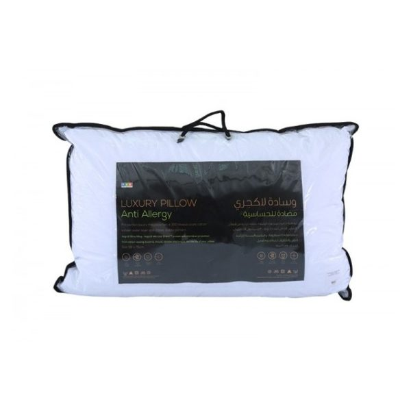 Antibacterial Dobby Pillow 300Tc White
