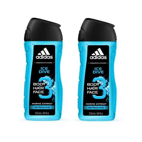 Adidas Ice Dive Shower Gel 250ml Pack 0f 2