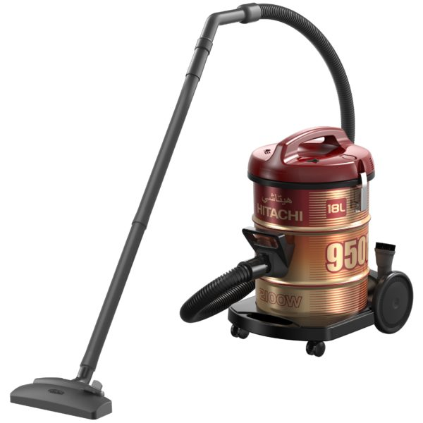 Hitachi Drum Vacuum Cleaner Wine Red CV950F24CBSWR