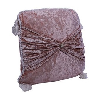 Pearl Filled Cushion 45X45cm Peach