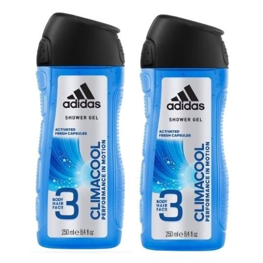 Adidas Climacool Shower Gel 250ml Pack 0f 2