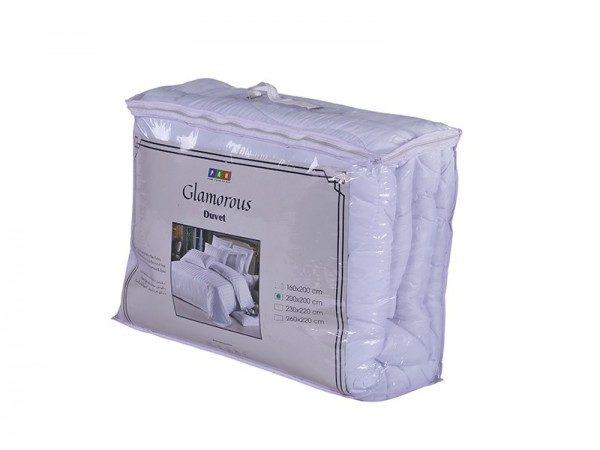 Glamorous Microfiber Duvet 200x200cm White