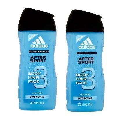 Adidas After Sport Shower Gel 250ml Pack 0f 2