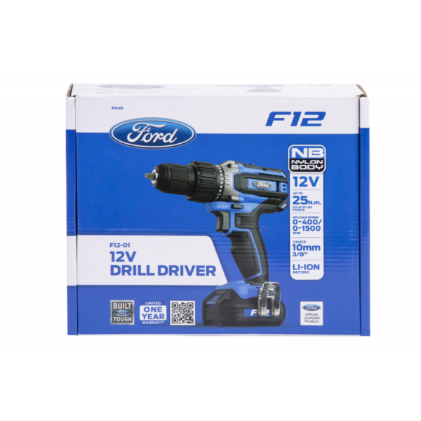 Ford F12-01 12V Li-ion Cordless Drill Driver