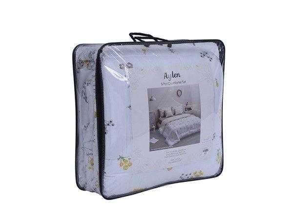 Aylen Comforter Set 5pcs 230x260cm White