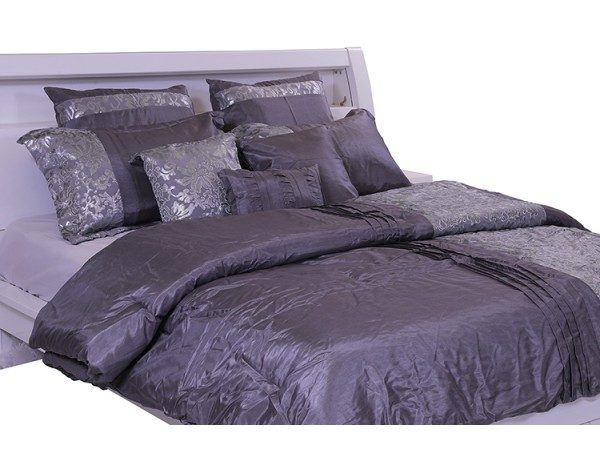 Yuma Comforter Set 9pcs 240x260cm Grey