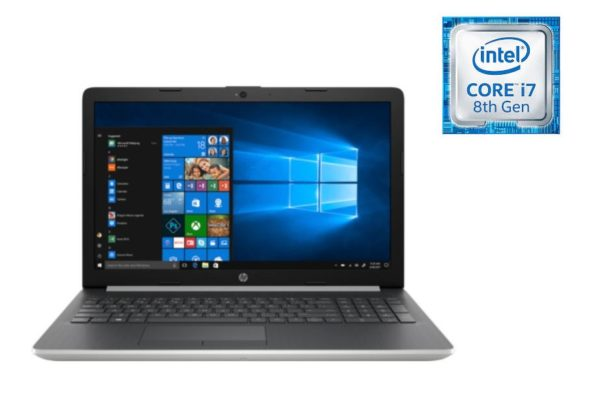 HP 15-DA1007NE Laptop - Core i7 1.8GHz 8GB 1TB 4GB Win10 15.6inch FHD Natural Silver